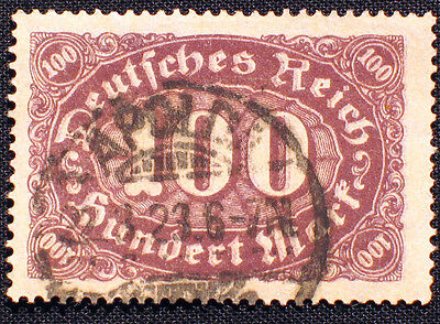 D. Reich, Nr. 247 DD, Abart, Plattenfehler,Besonderheiten Doppeldruck gestempelt