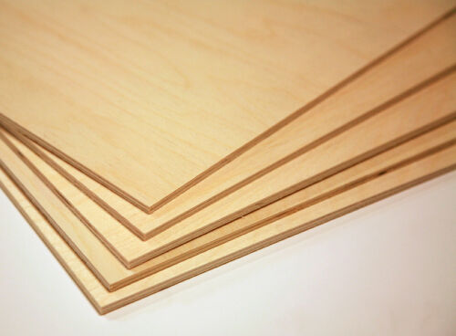 """1/8"""" (3mm)  by approx 12"""" by approx 20"""" Baltic Birch Plywood 20 pieces-Glowforge"""