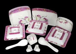 Geeta-Diamond-Sqaure-24-Pcs-Melamine-Dinner-Set-LE-GDS-006-Customized-Packing