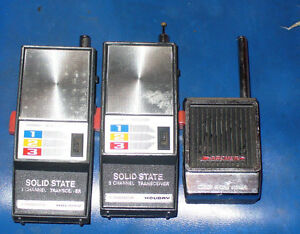 3 Vintage Walkie Talkie. 2 Holiday 1 Archer Micro Space Patrol .