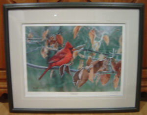 """Reduced! Russell Cobane """"Frosty Leaves"""" Limited Edition Print"""