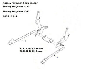 Pieces subframe pour loader Massey Ferguson 1525