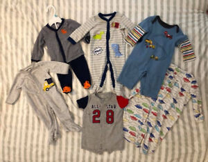 Fun Baby Clothes Lot Size in details, clothing,  pjs, sleep sack
