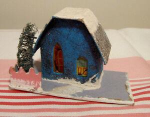 Ancienne maison de village de Noël mica putz # N312