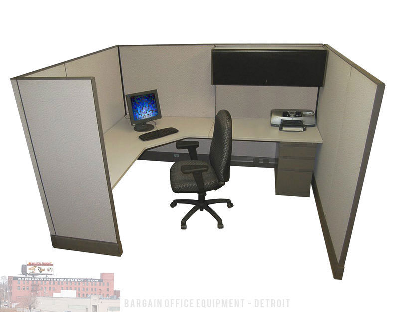 "6x8 x 67"" Tall Herman Miller Work Station Office Cubicles"