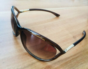 Tom Ford Authentic Womens TF008 Jennifer 38F Sunglasses Brown
