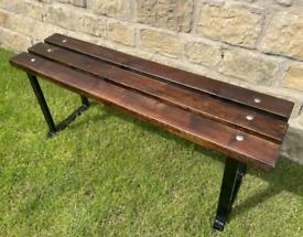 Heavy Duty Bespoke Metal Wood Outdoor Garden Pub Bar Bistro Bench
