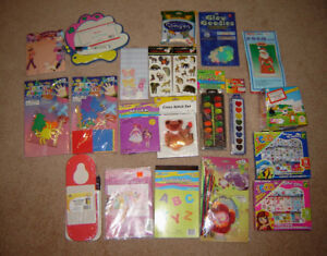 Assorted Girls Crafts Kits, Stickers, Paints,etc (most are new)