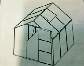 A new still boxed flat packed 6x6 green house .