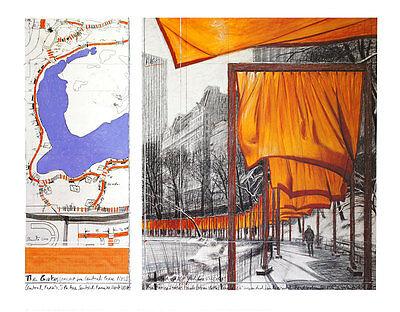 Christo The Gates XXIII Poster Kunstdruck Bild 71x86cm