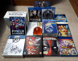 Autographed blu-ray collection