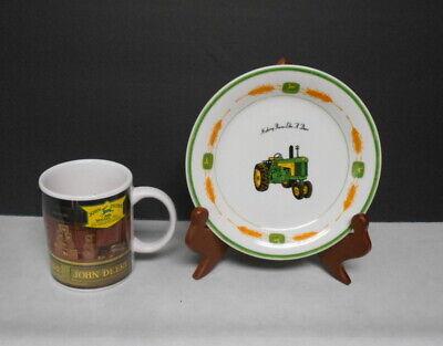 John Deere Collectible 10oz Coffee Cup & Cake Saucer Nothing Runs Like a Deere  - John Deere Cakes