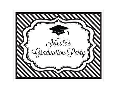 Graduation Theme Party (Personalized Graduation Party Theme Sign Graduation Party)