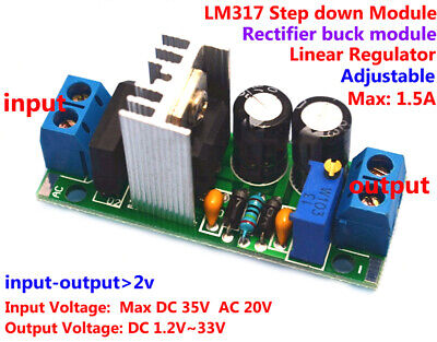 Acdc To Dc Converter Adjustable Lm317 Voltage Regulator Step-down Module 5v 12v