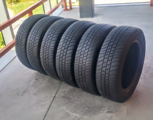 Set of six 185/65/15 Motomaster se all season tires