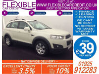 2012 CHEVROLET CAPTIVA 2.2 VCDI LT GOOD / BAD CREDIT CAR FINANCE AVAILABLE