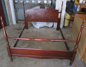 4-poster mahogany bed frame 4 sale