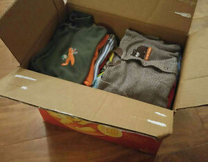 Box of baby boy clothes 3-6 months