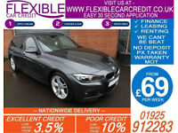 2014 BMW 320D 2.0 TD M-SPORT TOURING GOOD / BAD CREDIT CAR FINANCE FROM 69 P/WK