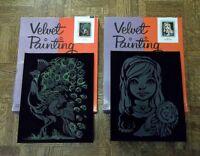3 Craft Master Black Velvet Painting Kits