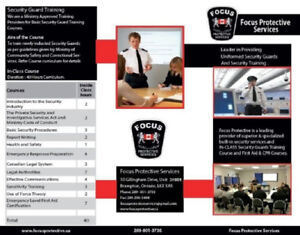 Online Security Guard Training $79 with First Aid/CPR $60