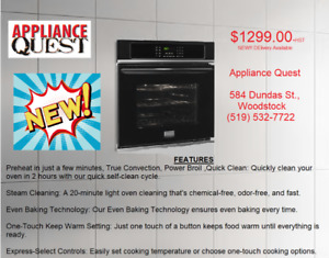 NEW! Frigidaire Black Wall Oven