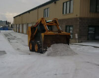 SkidSteer SNOW REMOVAL Bobcat Post holes Grading