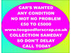 CAR IN ANY CONDITION REQUIRED Consett