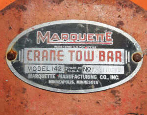 Marquette Crane Towing Hardware Tow Truck ? Vintage 1930s ish