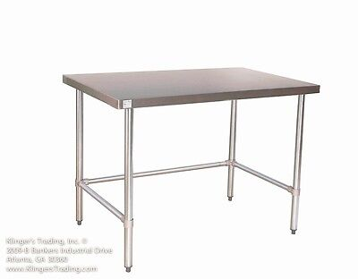 24 X 24 Open Base All Stainless Steel Work Table