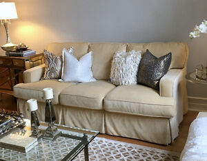 Like new designer Sofa and Love Seat set for sale