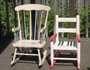 2 Different Style Sturdy Rocking Chairs for Child