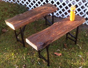 Barn Timber Bench - Foldable Legs