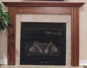 Oak fireplace surround with mantle *NEW PRICE*