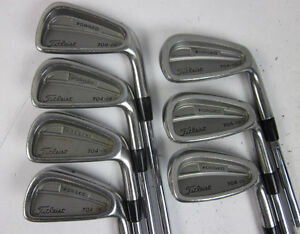 Titleist 704 CB right hand irons for sale.  Good condition.