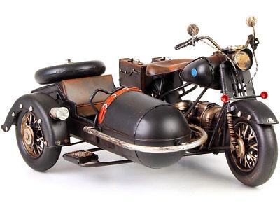 MOTORRAD mit BEIWAGEN großes BLECH-MODELL MOTORRADGESPANN, MOTORRAD mit BEIWAGEN