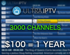 ULTRA IPTV | 3000 CHANNELS HD+VOD $100/yr OR $10/mo, NO FREEZING