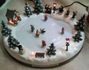 Ornament - Electrically powered Ice skating rink -$50