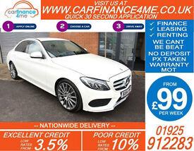 2014 MERCEDES C220 CDI BLUETEC AMG LINE GOOD BAD CREDIT CAR FINANCE FROM 99 P/WK