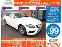 2014 MERCEDES C220 CDI BLUETEC AMG LINE GOOD BAD CREDIT CAR FINANCE FROM 99 P/WK