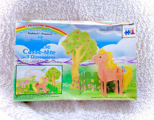 Rare Vintage G1 1985 My Little Pony 3D Stand Puzzle Apple Jack