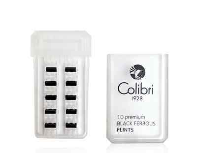 Colibri Premium Black Ferrous Flints 10 premium flints per convenient hard pack