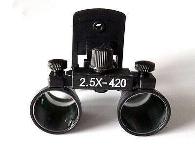 Aphrodite Dental 2.5x420mm Surgical Medical Binocular Clip Loupe Dy-109