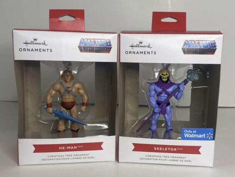 Hallmark Ornaments 2021 He-Man and Skeletor Hallmark Ornaments In Hand HTF 🔥