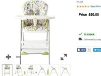 Joie Mimzy Snacker Highchair 123 - excellent condition
