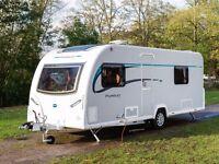 Bailey pursuit plus 550/4 2014 4 berth caravan in excellent condition.