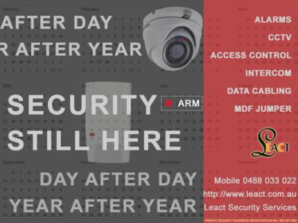 MDF jumper, Intercom, data cabling, Alarms, CCTV, Access control