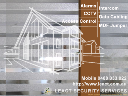 Alarm, Access control, CCTV, Intercom, Data and MDF cabling