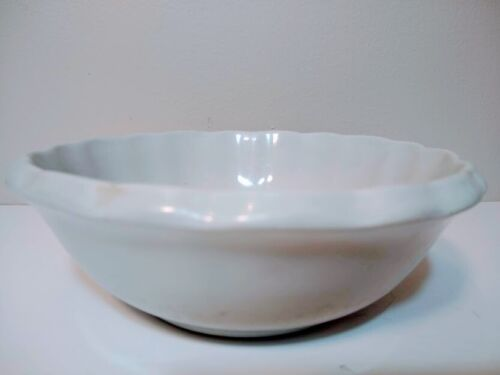 Vintage White Scalloped Royal Ironstone China By Charles Meakin made in England