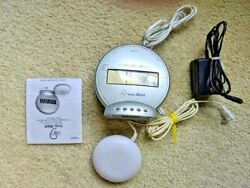 sonic alert alarm clock + manual - model SBT425ss bed shaker